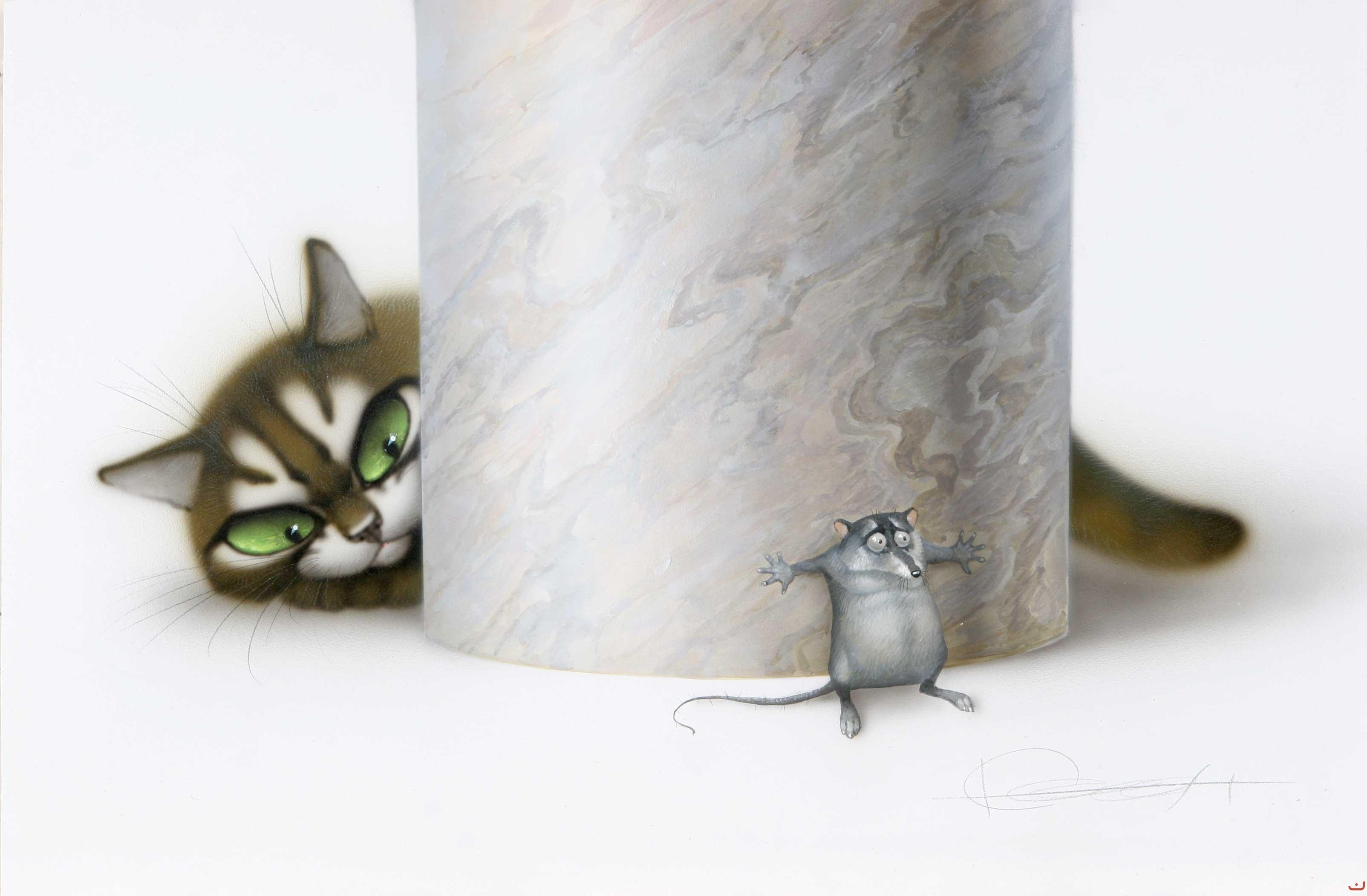 Красивые рисунки кошка и мышка