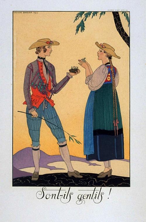 Женский образ на старой открытке 7 (295 открыток)