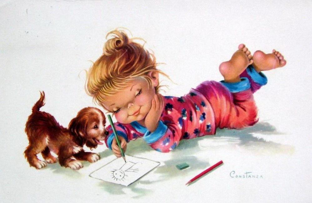 На чем художники рисуют открытки 44