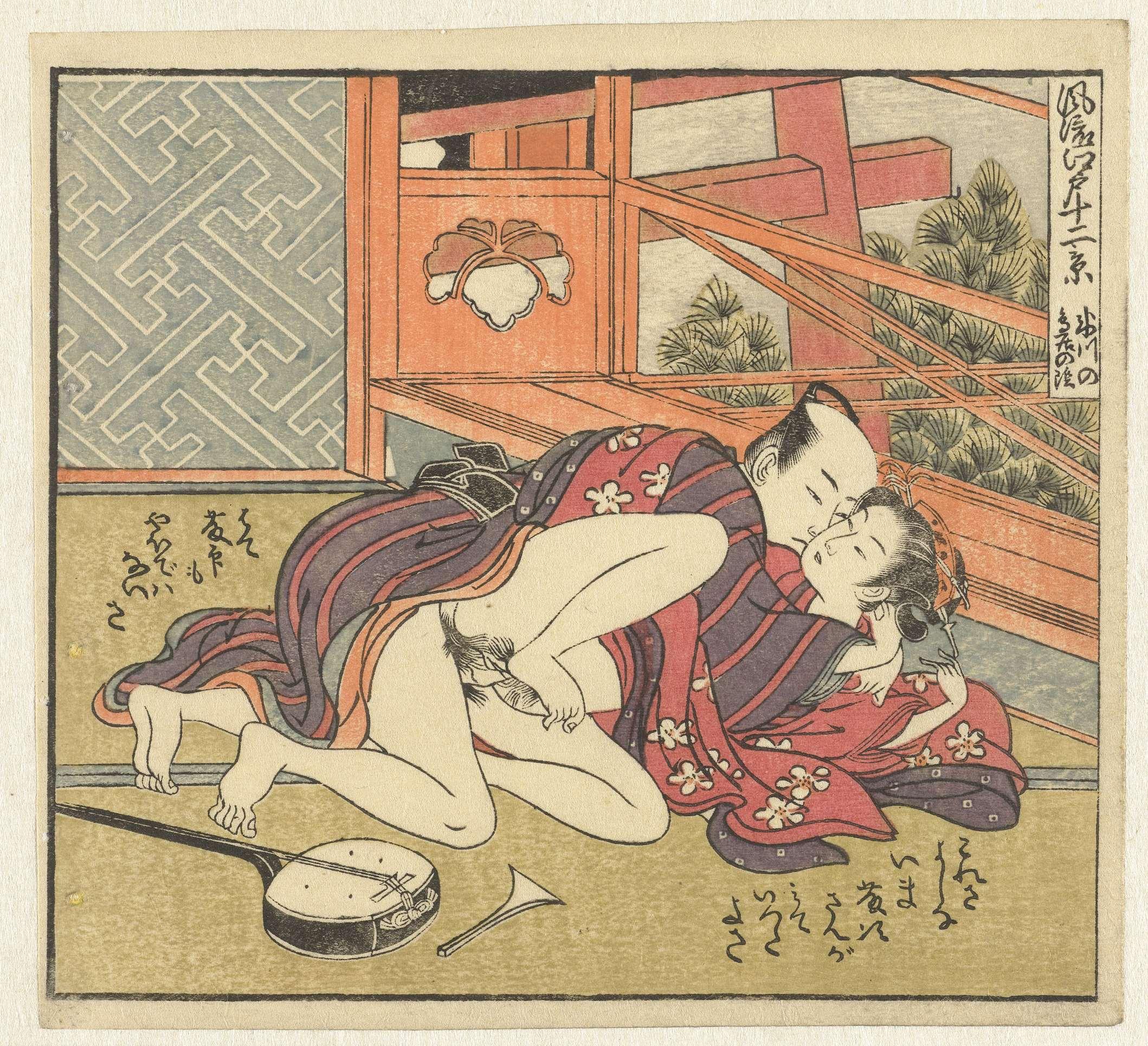 Японская эротическая гравюра 26 фотография