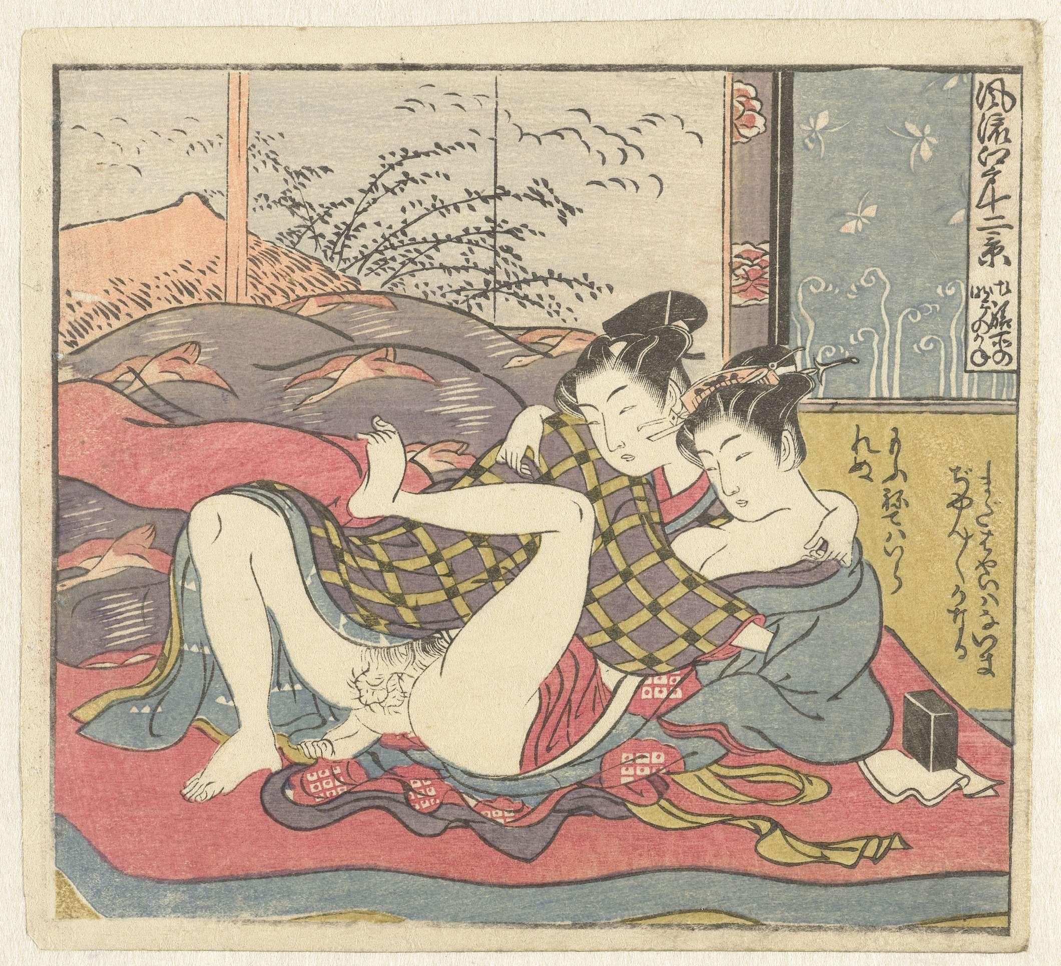 Японская эротическая гравюра 15 фотография