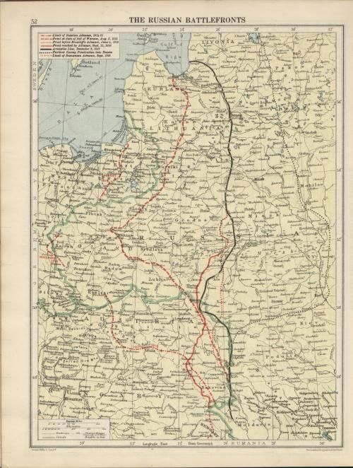 Немецкие карты и чертежи времён Первой Мировой войны (12 страниц)
