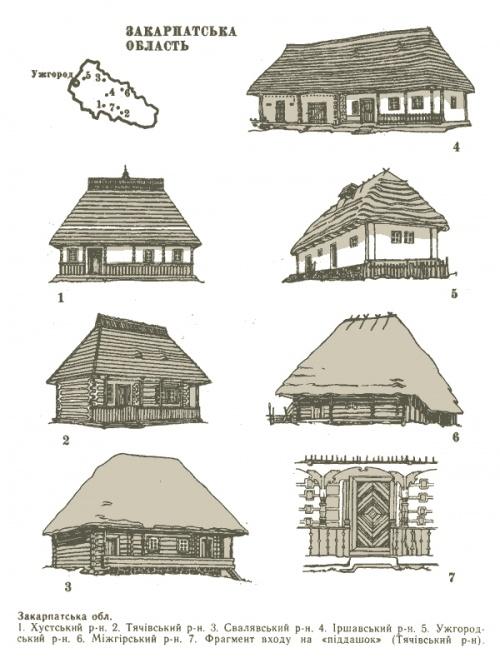 Украинские хаты (по областям и районам) (26 фото)