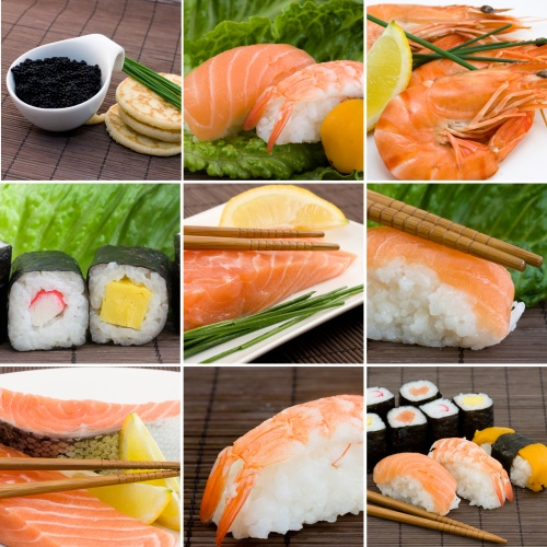 Stock Photos - A Set of Variety Sushi (6 фото)