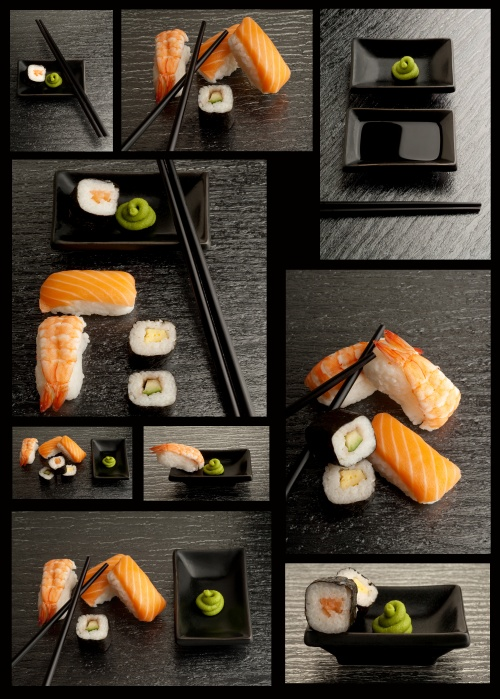 Stock Photos - A Set of Variety Sushi (6 фото)