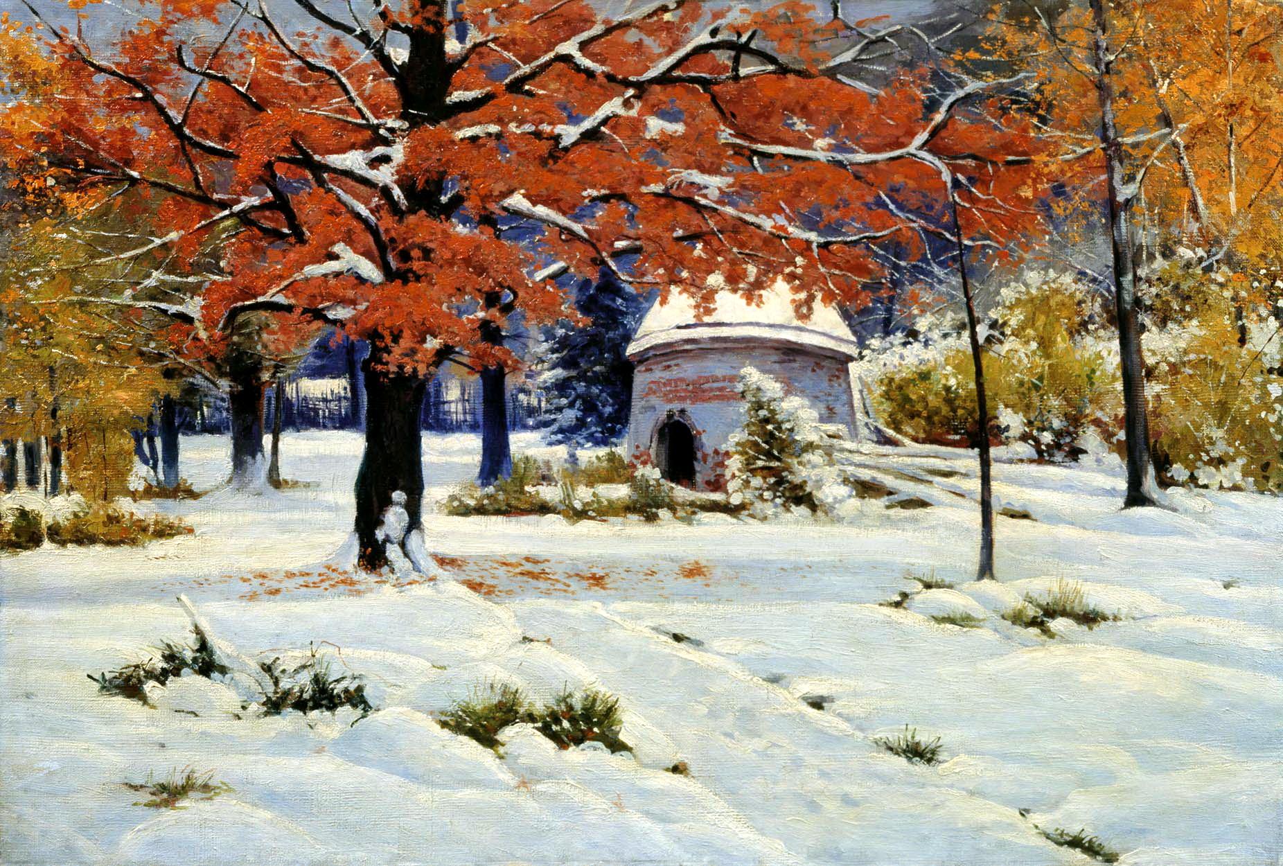 представлена снег у русских художников работы