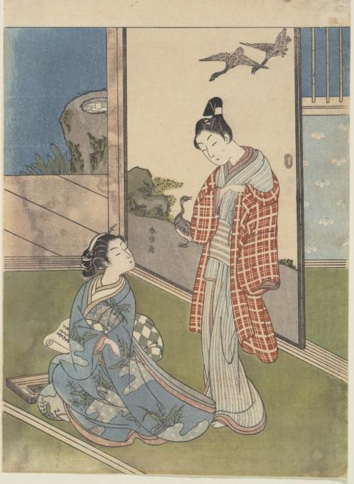Artworks by Suzuki Harunobu (1724-1770) (690 работ) (1 часть)