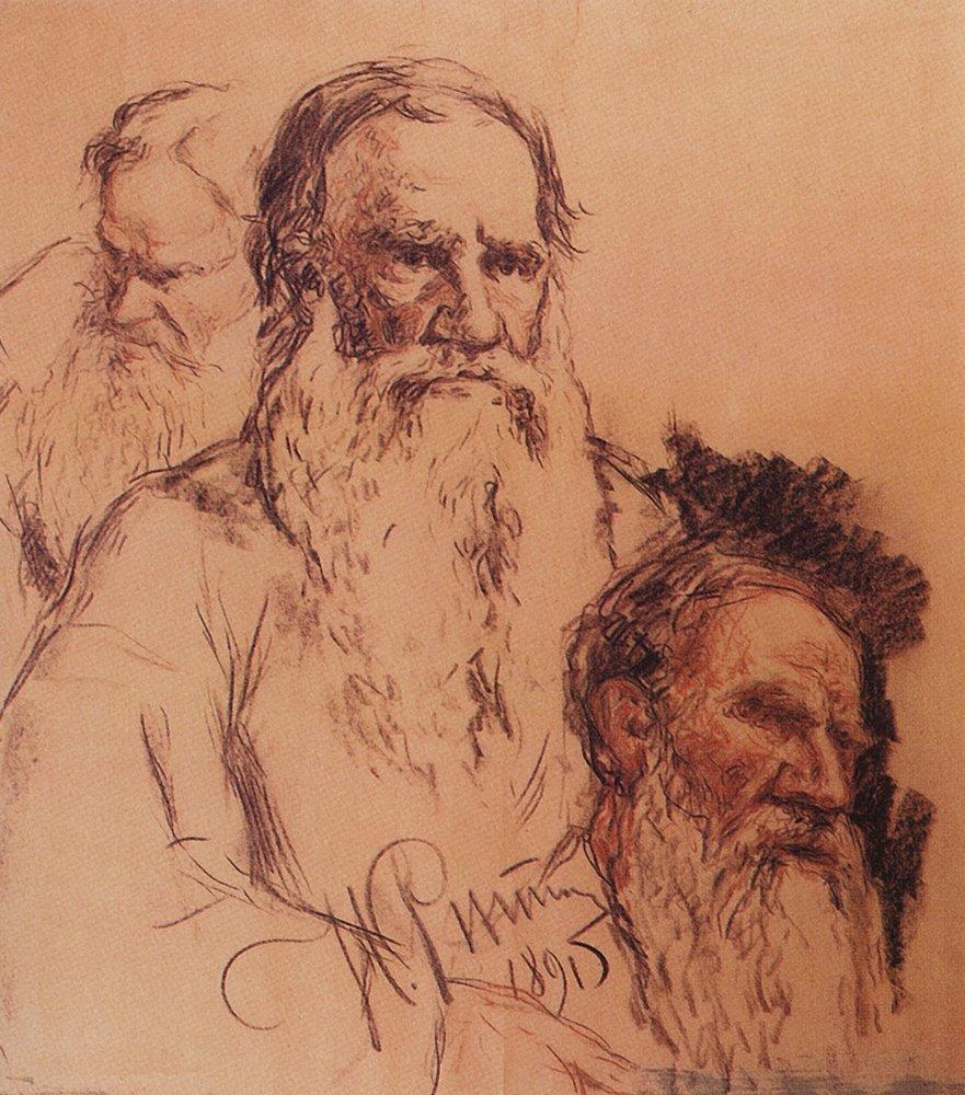 Художники рисовавшие толстого