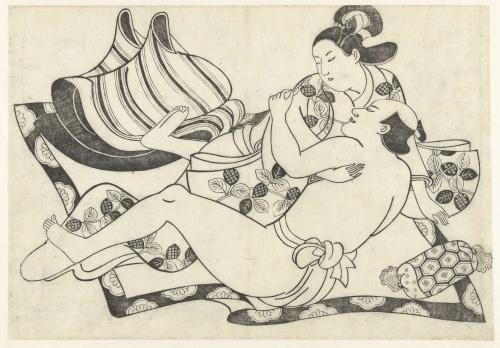 Японская эротическая гравюра 23 фотография