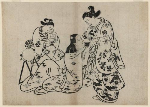 Artworks by Torii Kiyonobu (1664-1729) (120 работ)