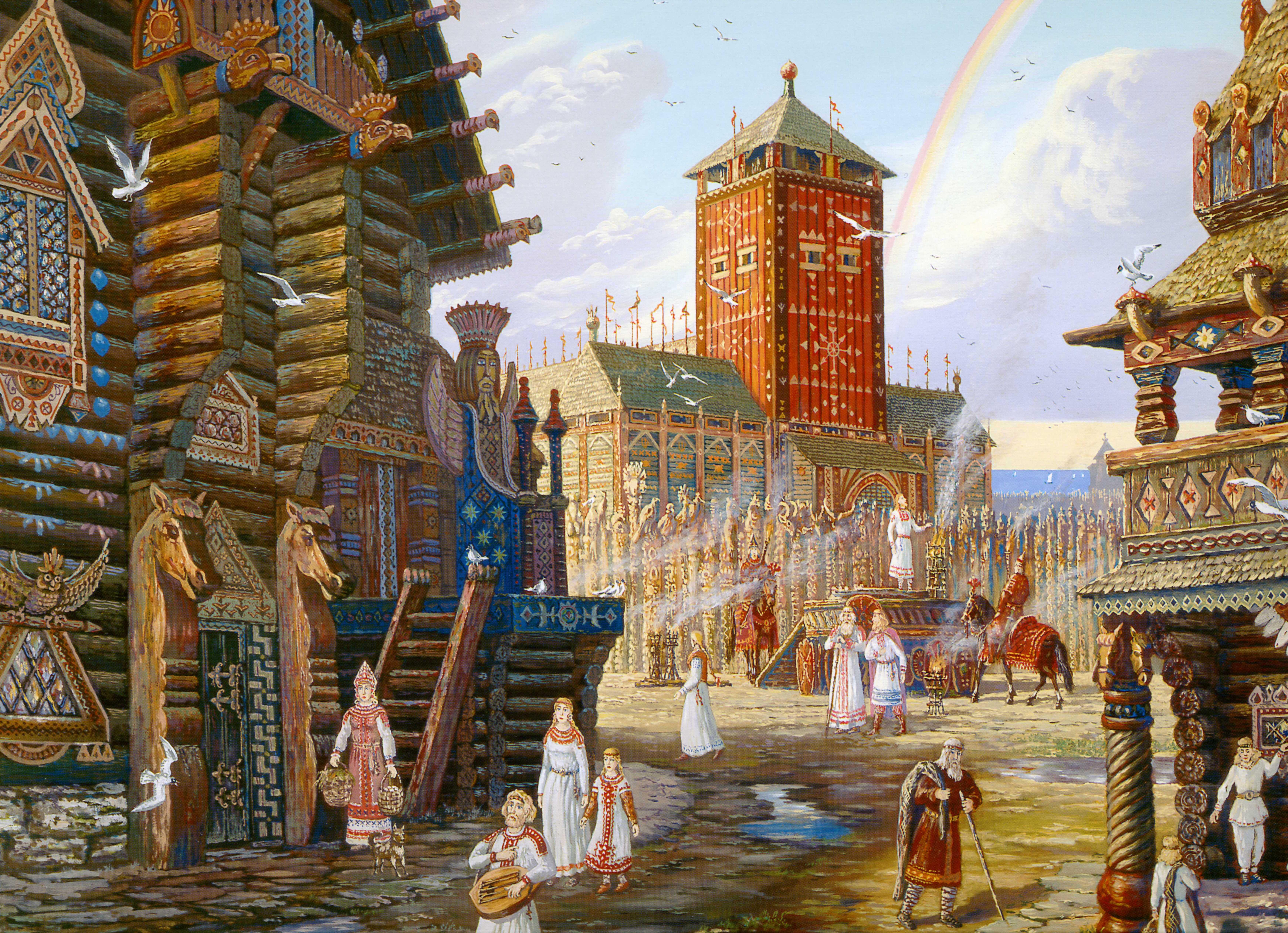 культура древней руси в картинках карточки