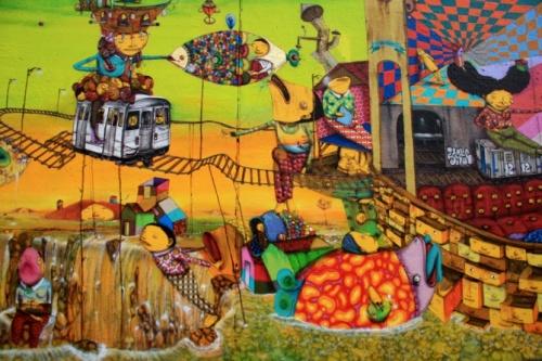 Бразильские уличные художники Отавио и Густаво Пандольфо (Os Gemeos) (62 фото)