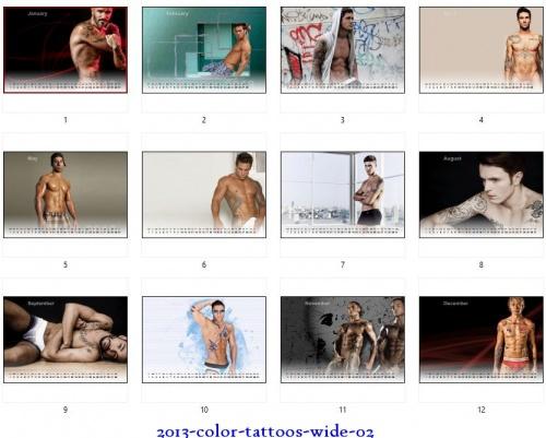 Calendars 2013 - Men Tattoo (16 фото)