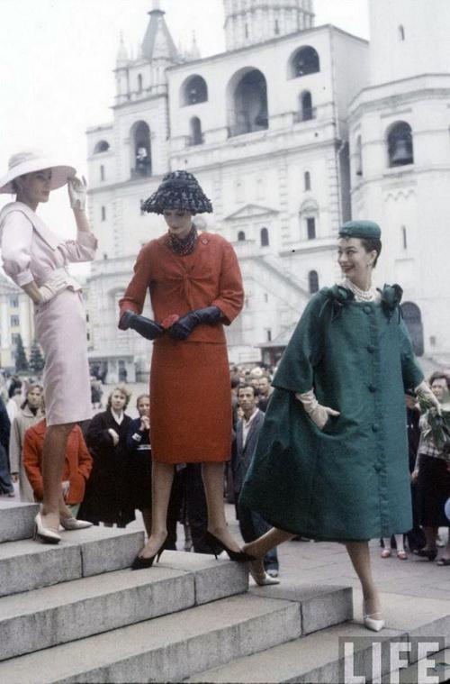 Кристиан Диор в Москве. Уникальные фото 1959 год (31 фото)