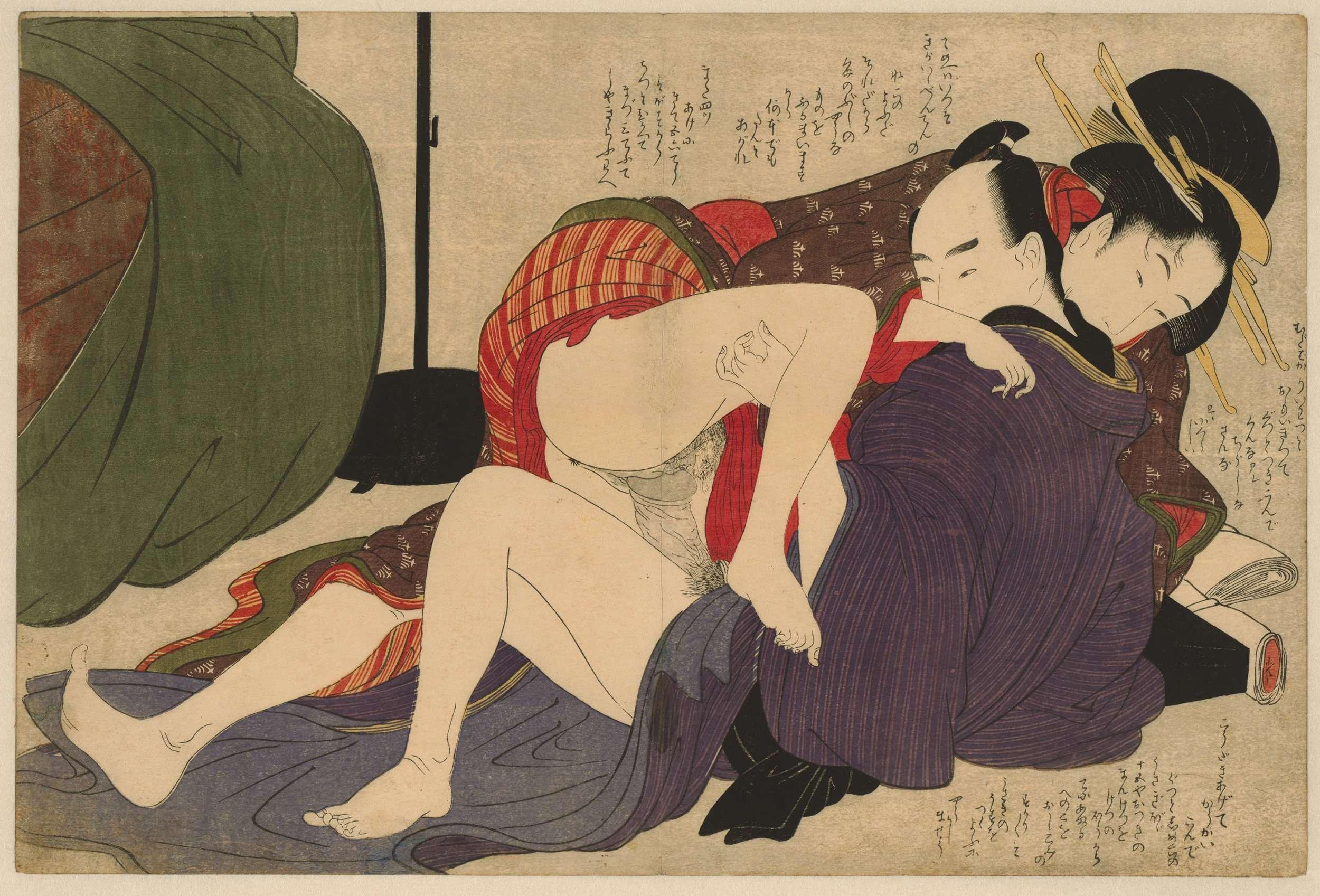 Японские эротические картины гравюры