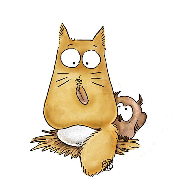 Смешные картинки с рисованными котиками