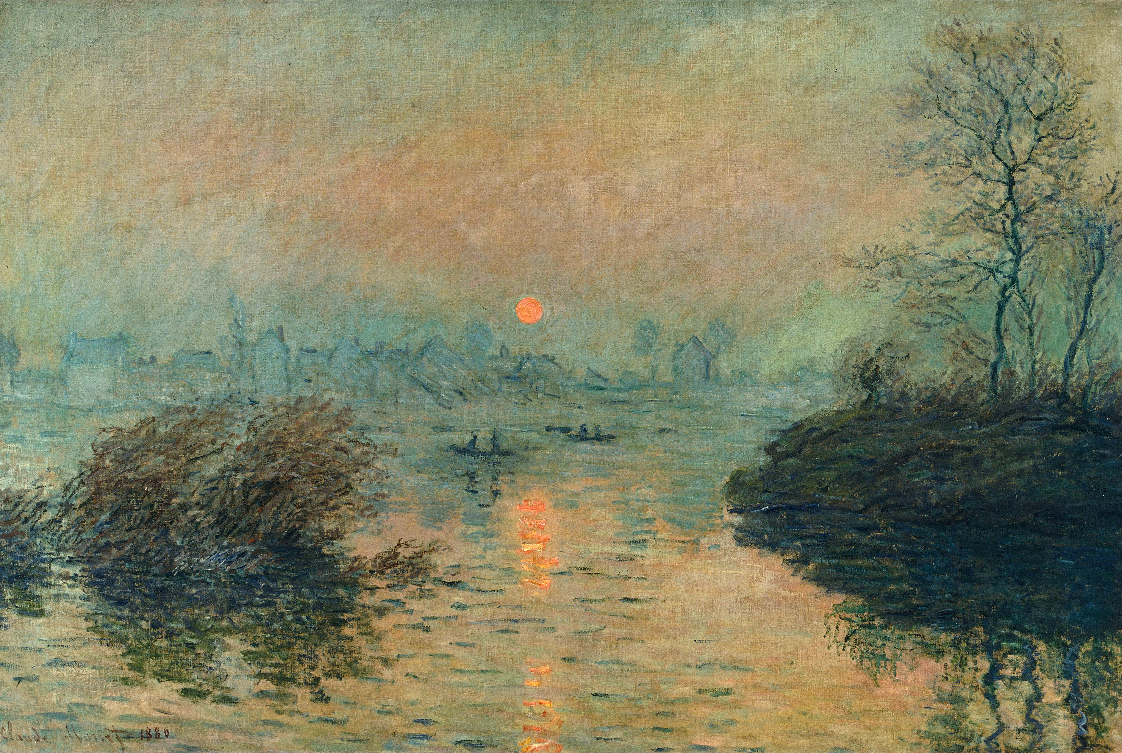 an analysis of the impressionist painting grainstack sunset by claude monet A painting from claude monet's acclaimed grainstack series fetches $1088 million at christie's new york auction of impressionist and modern art.