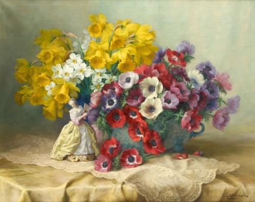 Цветочные натюрморты Julien Stappers (1875-1960) (23 работ)