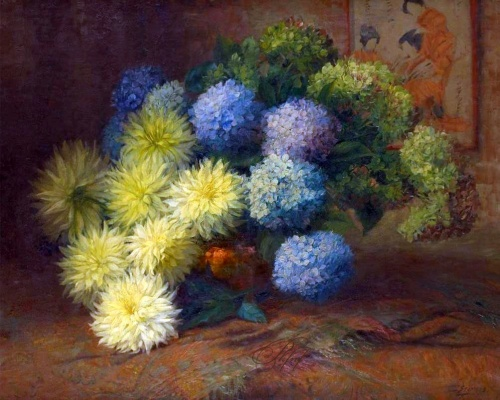 Цветочные натюрморты Julien Stappers (1875-1960) (23 фото)