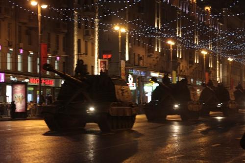 Подготовительный военный парад (113 фото)