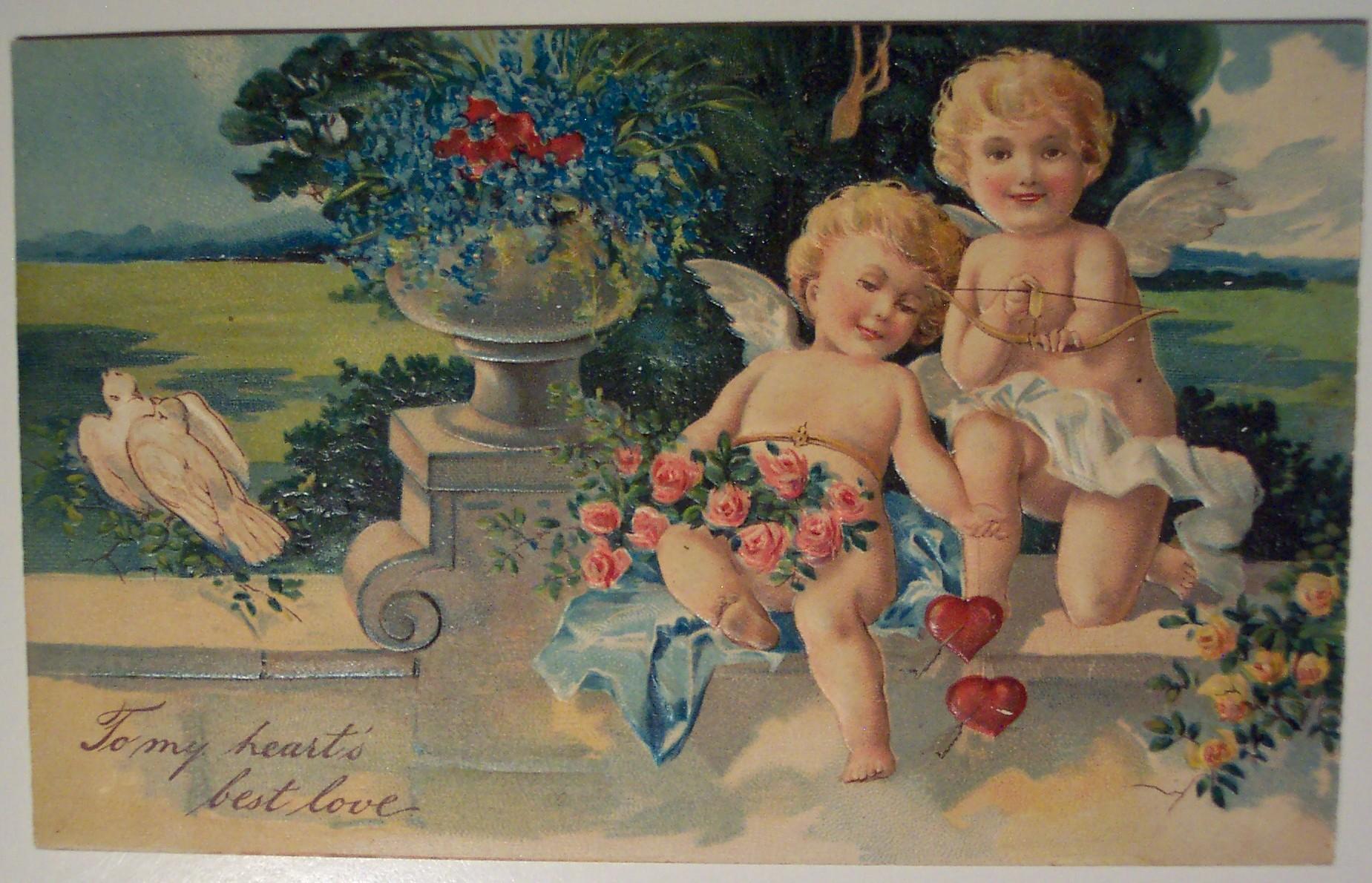 Старые рождественские открытки (91 фото) 75