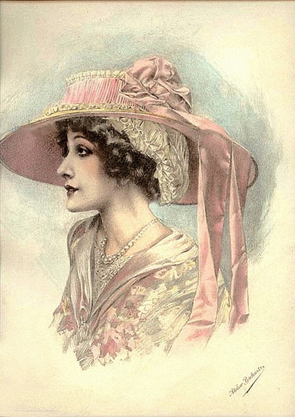 Женский образ на старой открытке 9 (246 фото)