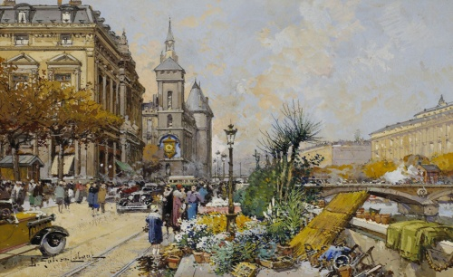 Artworks by Eugene Galien-Laloue (153 работ)