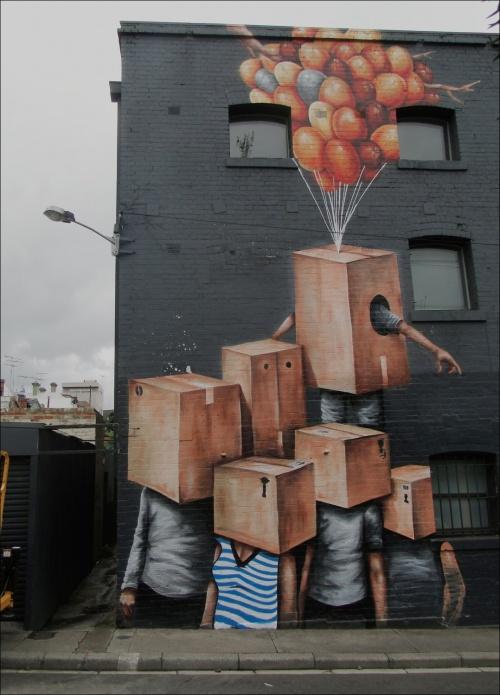 Австралийский уличный художник Финтэн Мэджи (Fintan Magee) (61 работ)