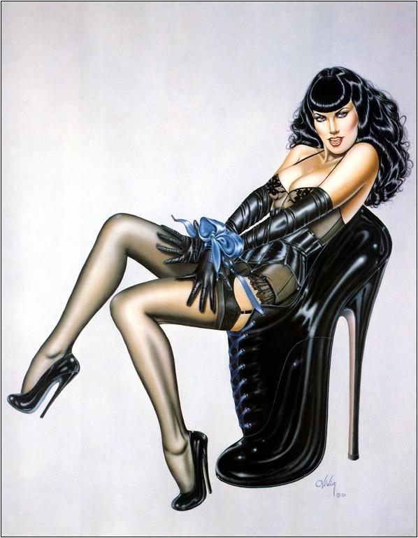 Olivia De Berardinis Signed Nude Art Lithographs (2