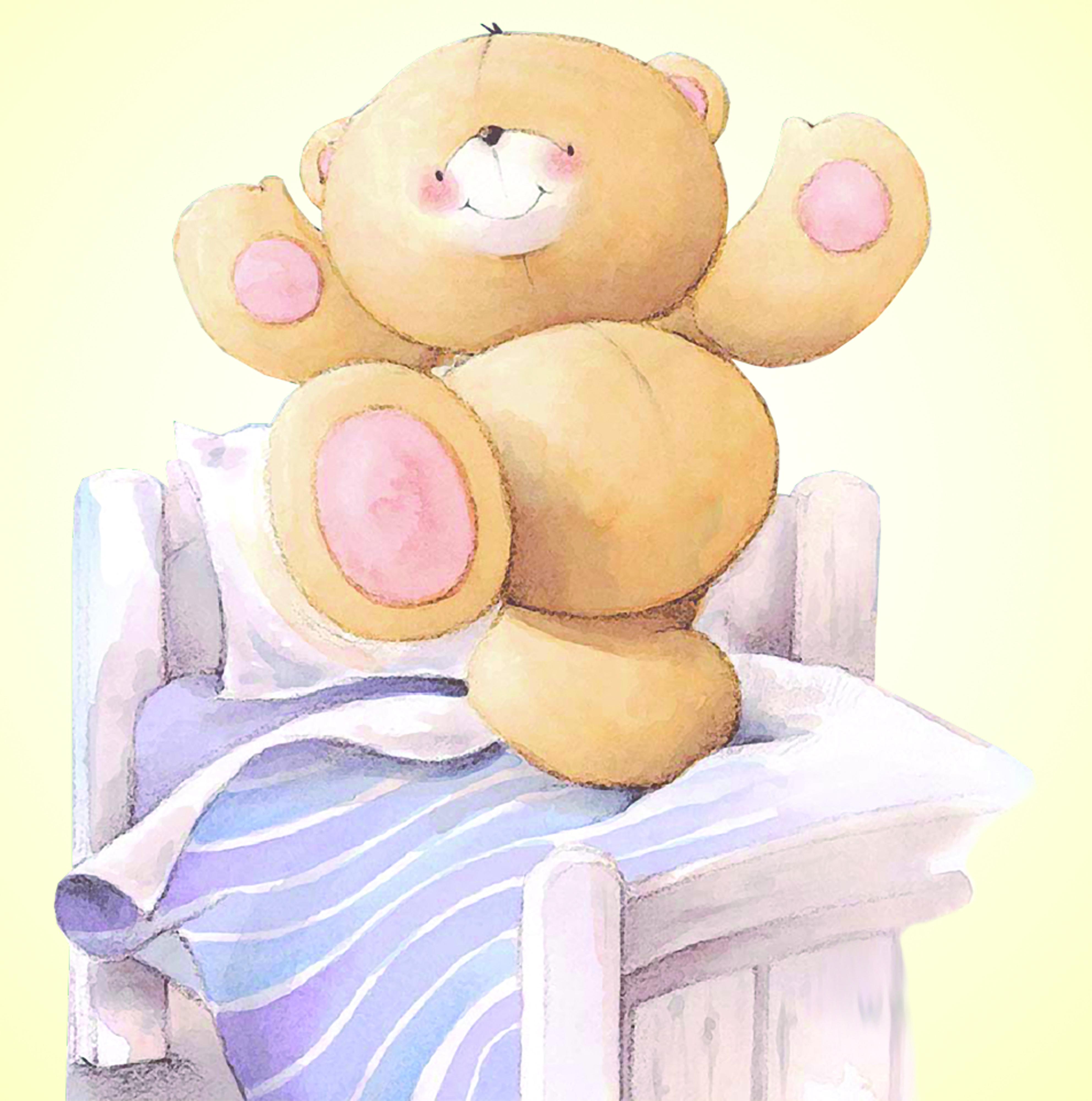 Доброго утра медвежонок - Доброе утро - Анимационные блестящие картинки GIF 79