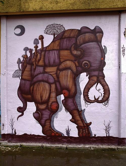 Уличный художник из Мексики Сего (Sego) (38 работ)