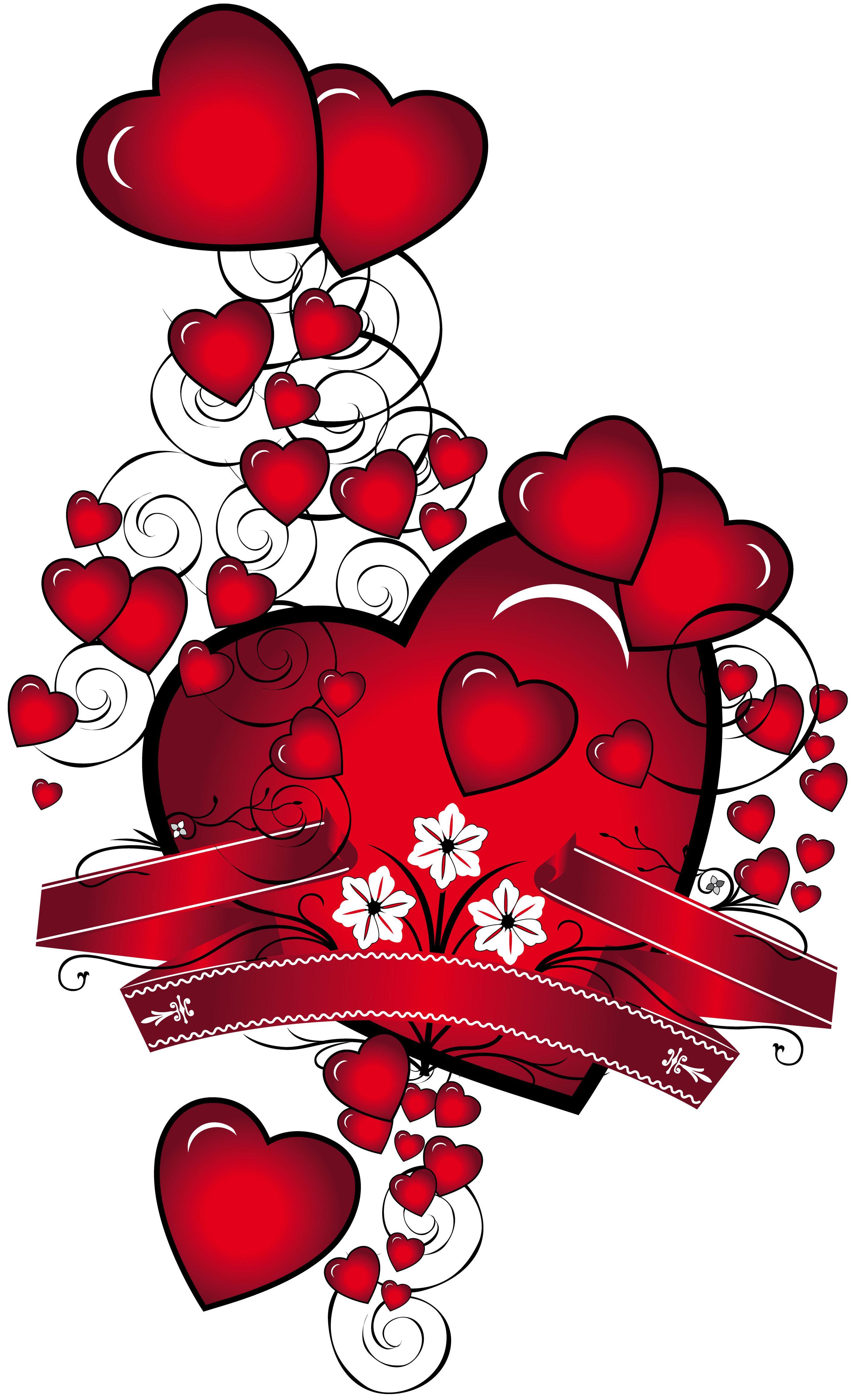 Открытки сердечками с любовью