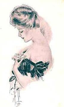 Женский образ на старой открытке 6 (120 фото)