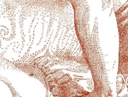 Нумеризм - картины, нарисованные при помощи цифр (47 фото)