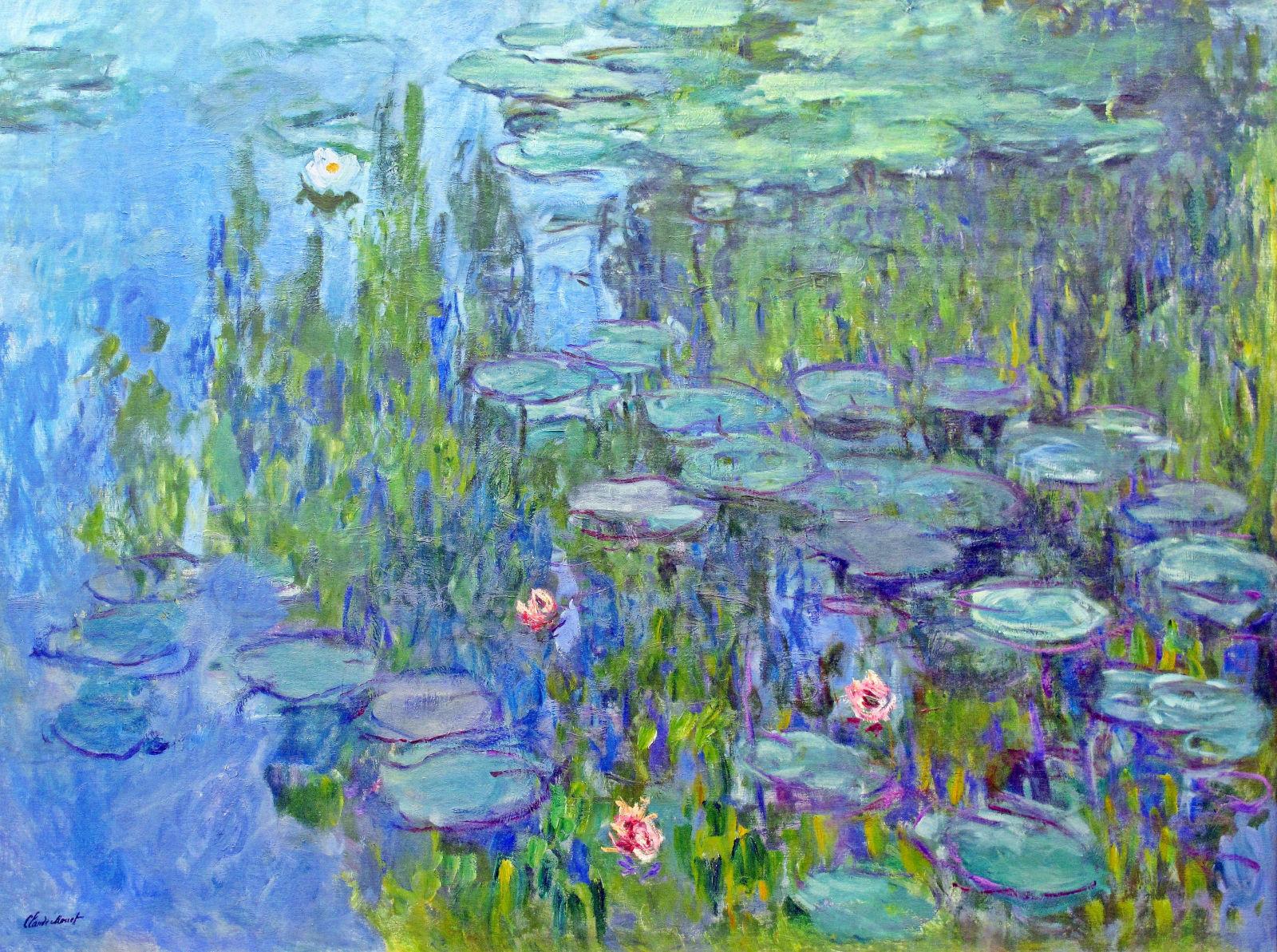monet's water lilies and van gogh's