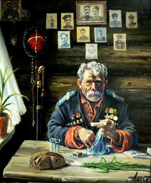Кубанский казачий художник Андрей Лях (70 работ)
