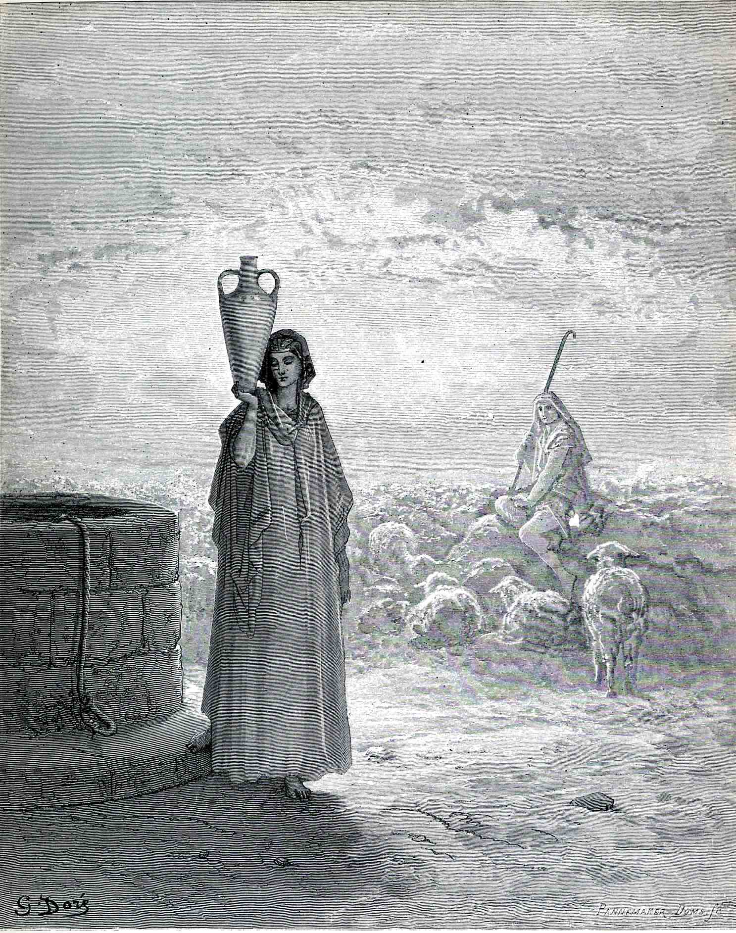 an analysis of the piece the wave by gustave dore of the menil collection