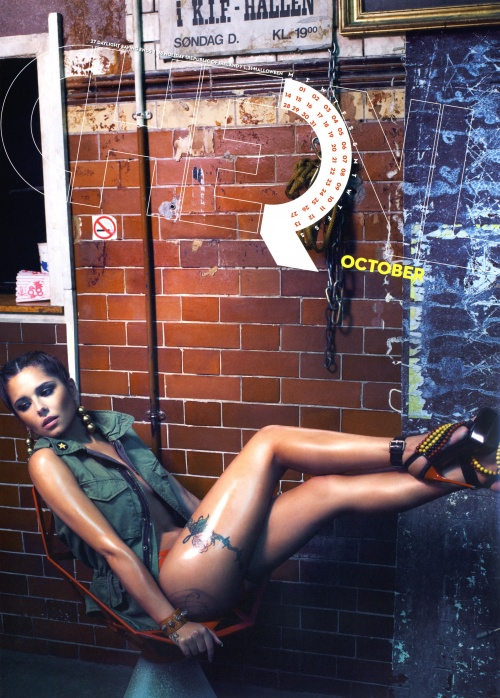 Cheryl Cole - Official Calendar 2013 (15 фото)