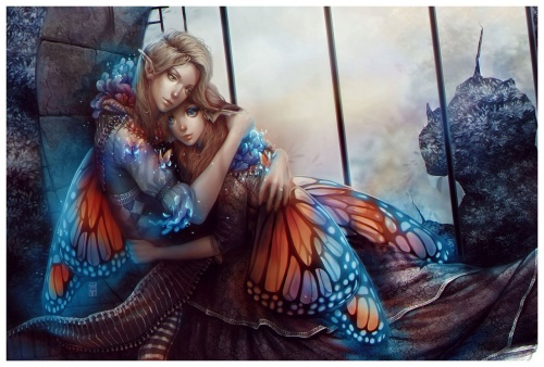 Рисованые обои - Девушки фэнтези (106 фото)