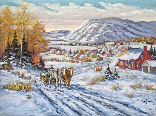 Зимние забавы Marcel Ravary (97 работ)