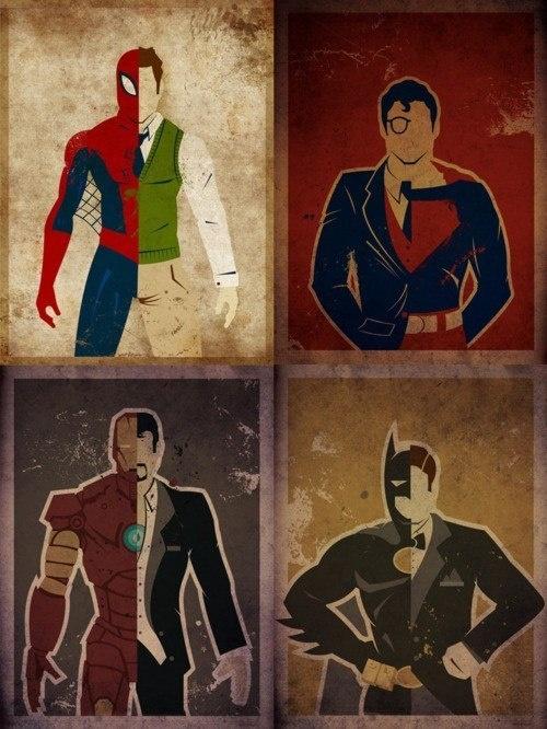 Герои MARVEL и карикатуры на них (200 работ)