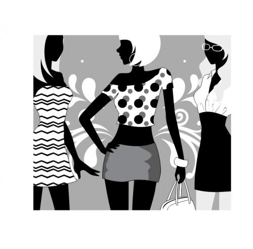 Девушки и покупки в векторе (часть третья) (36 фото)