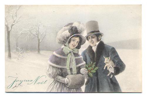 Женский образ на старой открытке 5 (500 открыток)