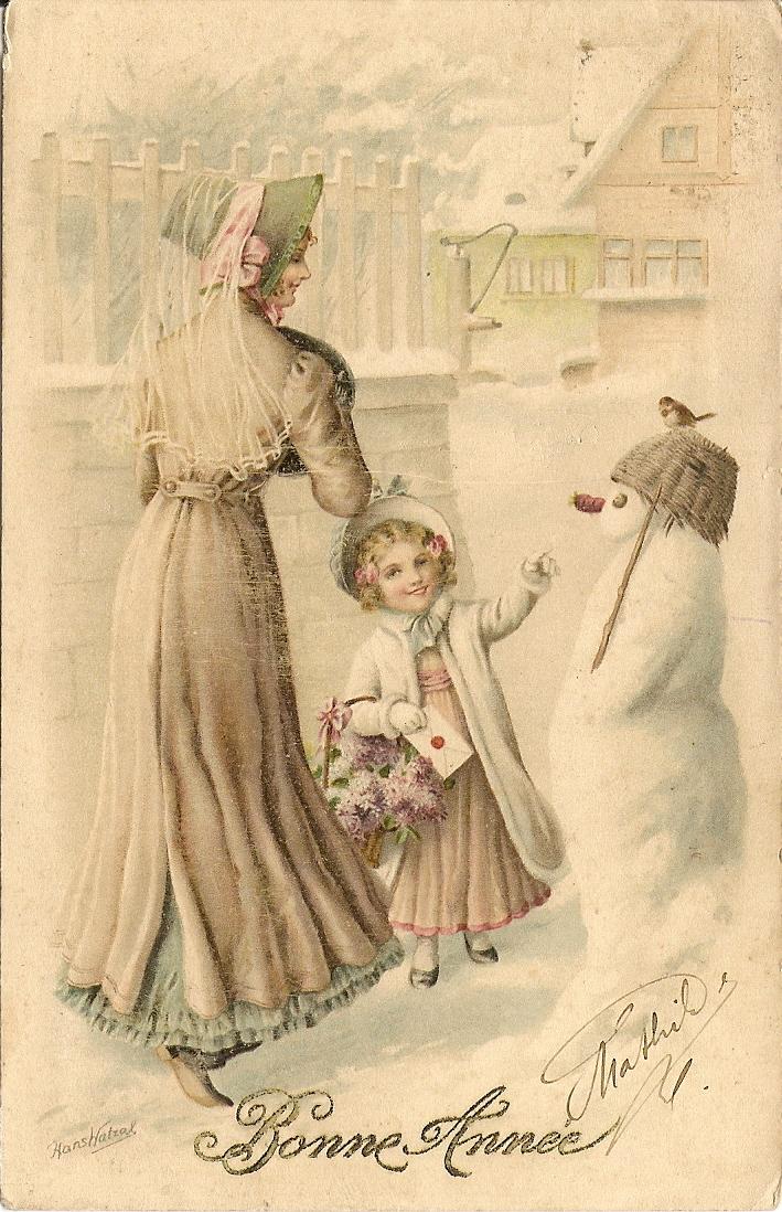 окрашиванием открытки прошлого века с рождеством частое