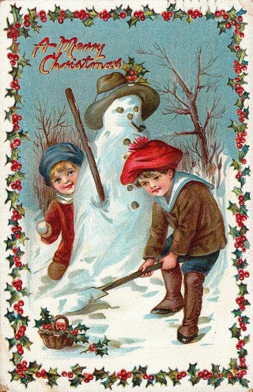 Christmas card of twentieth century 2 | Открытка ХХ века - Новый год и рождество 2 (90 фото)