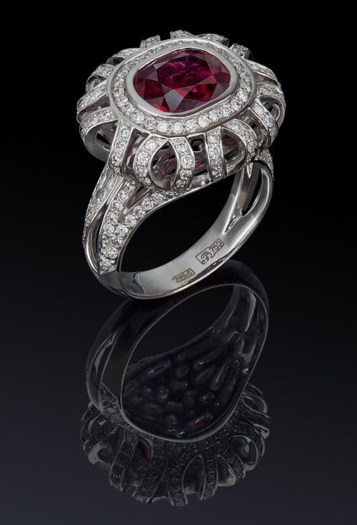 Фотосъемка ювелирных изделий с бриллиантами и рубином. Jewellery Photography из раздела рекламное фото 4402513