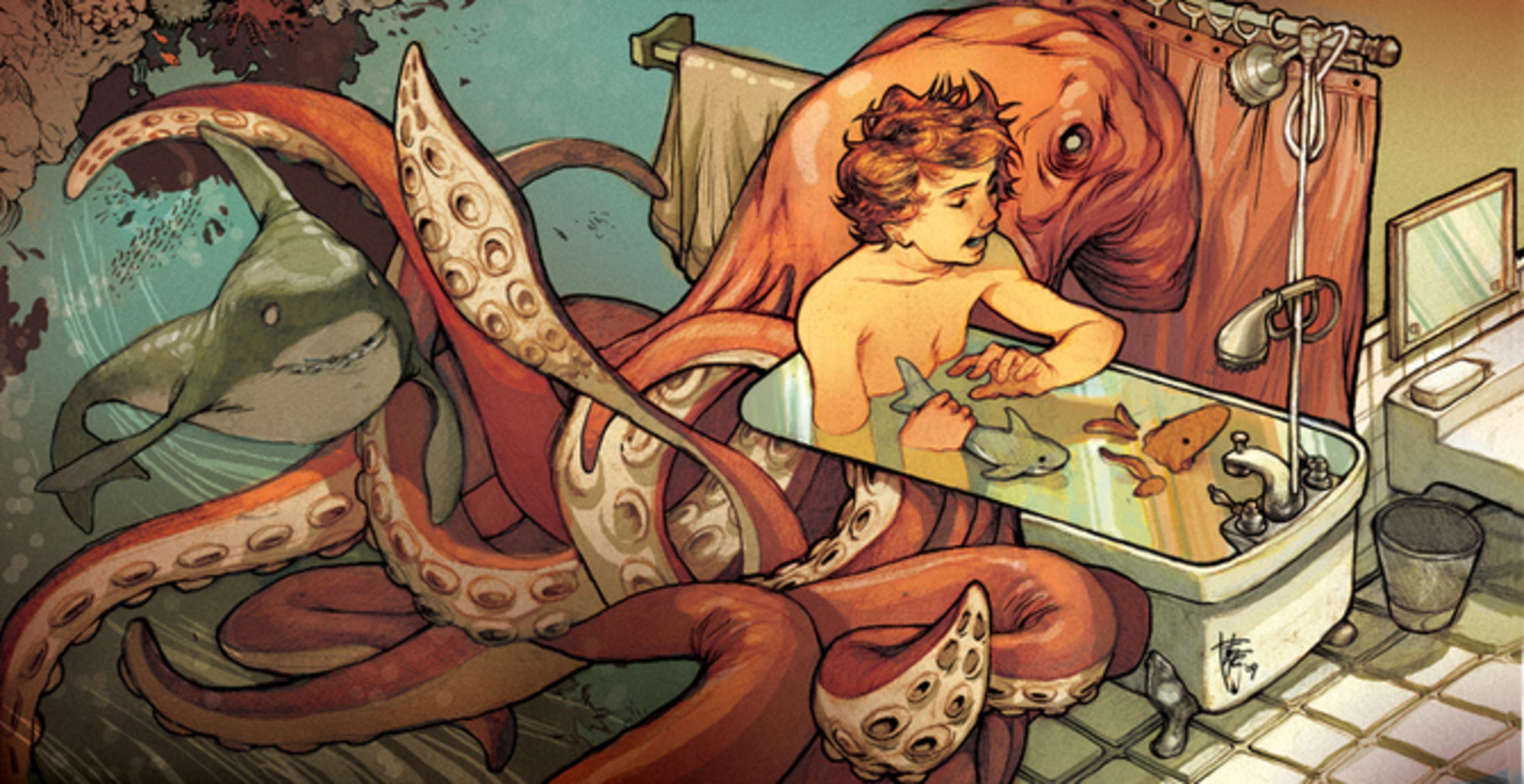 Фурри и осьминог 19 фотография