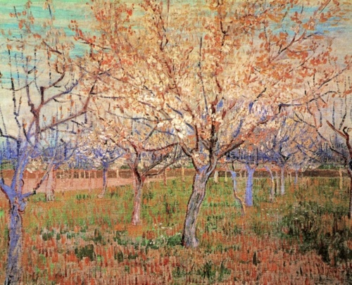 the flowering orchard by vincent van