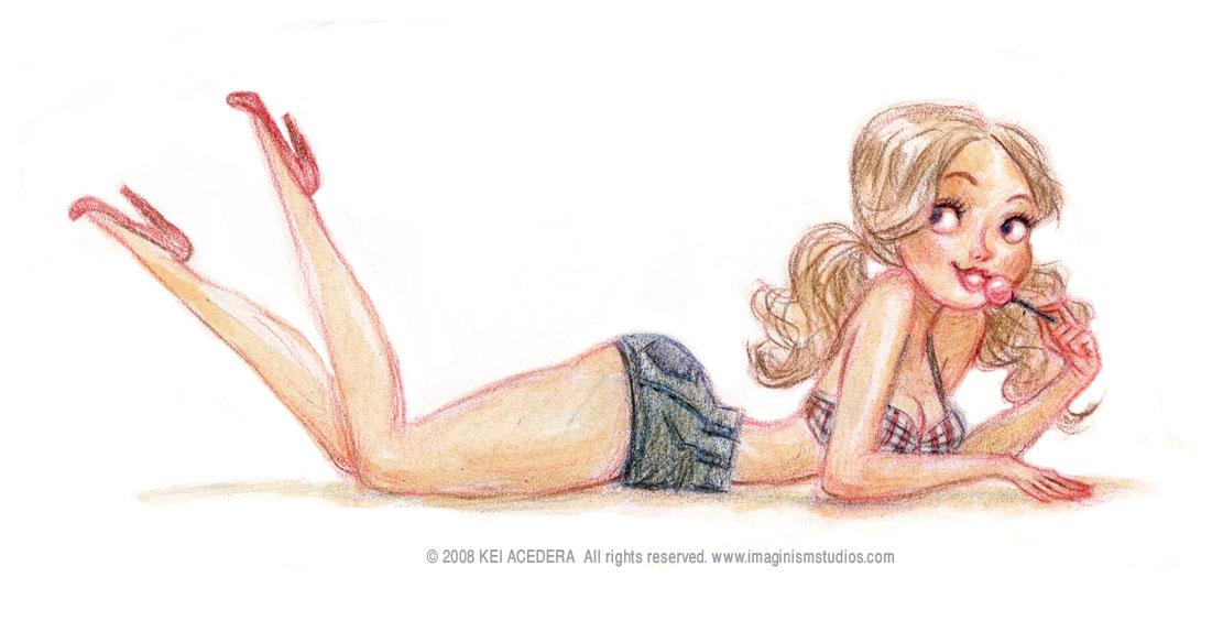 Сексуальные девочки рисунки