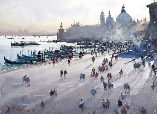 Картины акварелью от - Джозеф Збуквич (21 работ)
